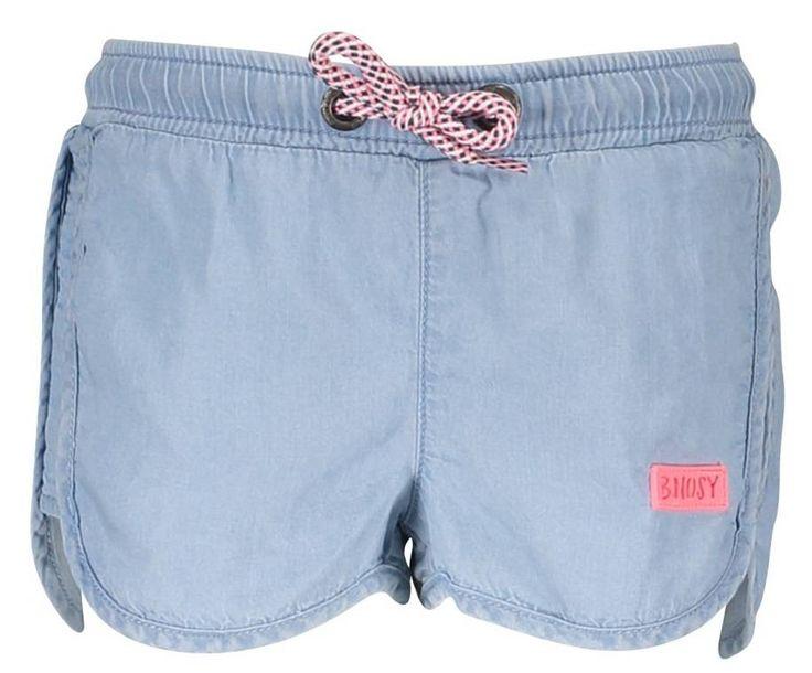 Girls korte broek blauw