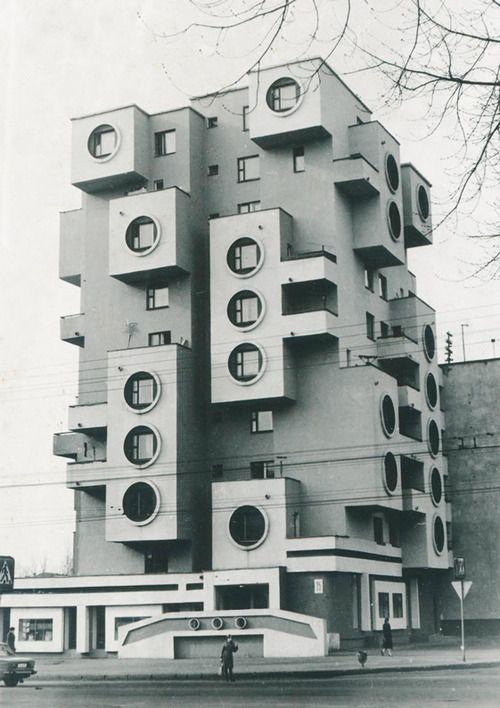 Visions of an Industrial Age // Residential building on Minskaya Street, 1980s, Bobruisk, Belarus