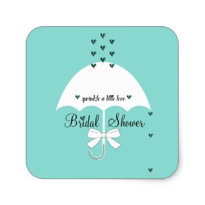 #Sprinkle Love Tiffany Teal Blue Party Stickers - #bridal #shower #gifts #wedding #party #bride