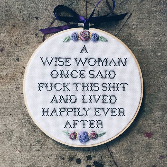 Wise Woman's Words by HeathenHM on Etsy