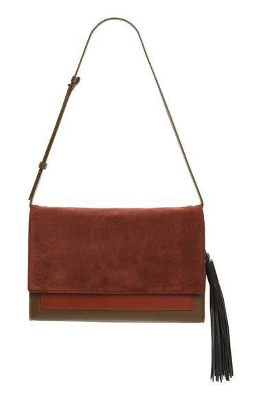 ALLSAINTS 'Large Belle' Clutch. #allsaints #bags #shoulder bags #clutch #lining #suede #hand bags #