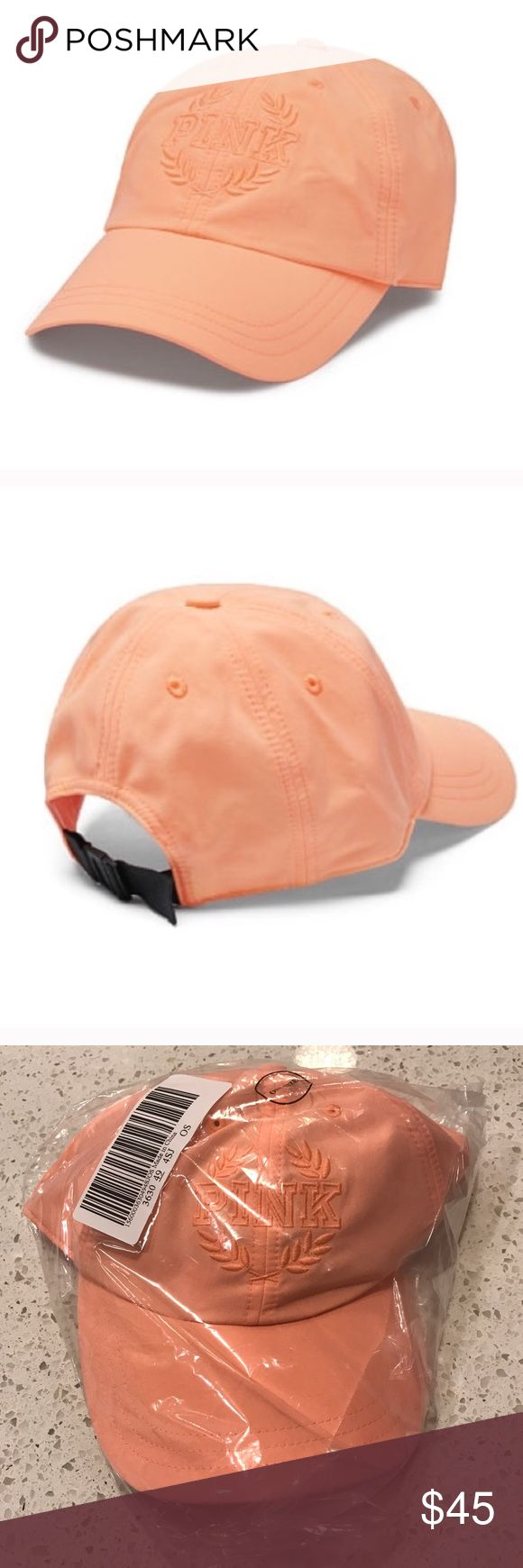 VS VICTORIAS SECRET PINK SPORT CLIP BASEBALL HAT VS VICTORIAS SECRET PINK SPORT CLIP BASEBALL HAT CAP Product Details Top it off in the season's must-have hat! Color: Sunset Glow Sport clip Adjustable One size fits all Imported nylon PINK Victoria's Secret Accessories Hats