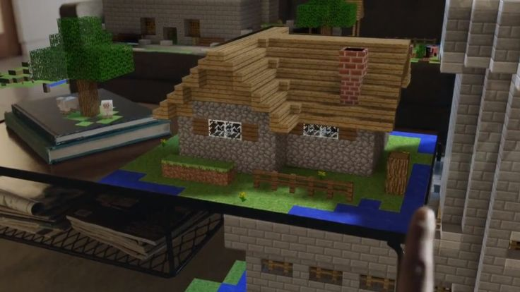 Microsoft HoloLens Demonstration Shows off Holographic Minecraft, Apps, ... it actually looks like something that i want