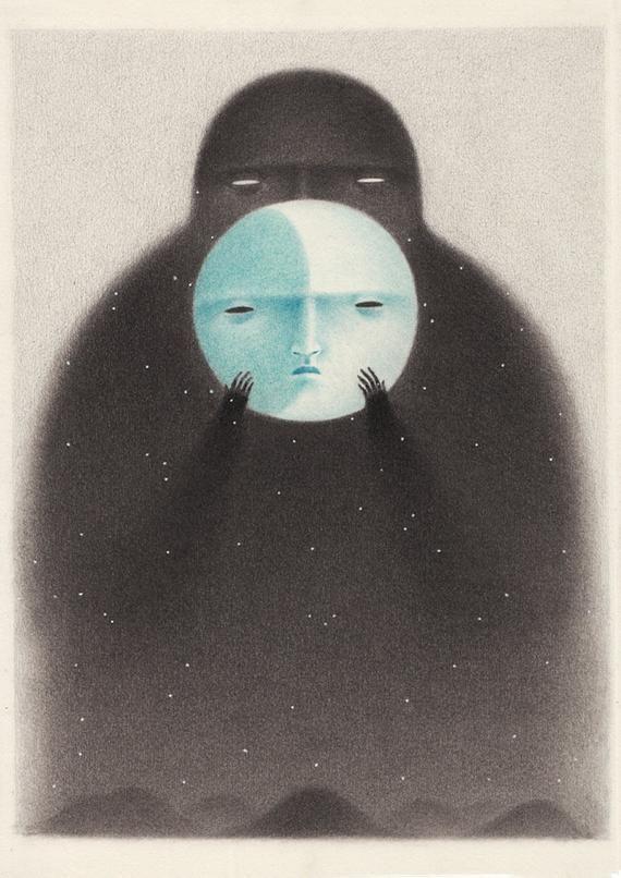 Moon face – Giclée Print illustration