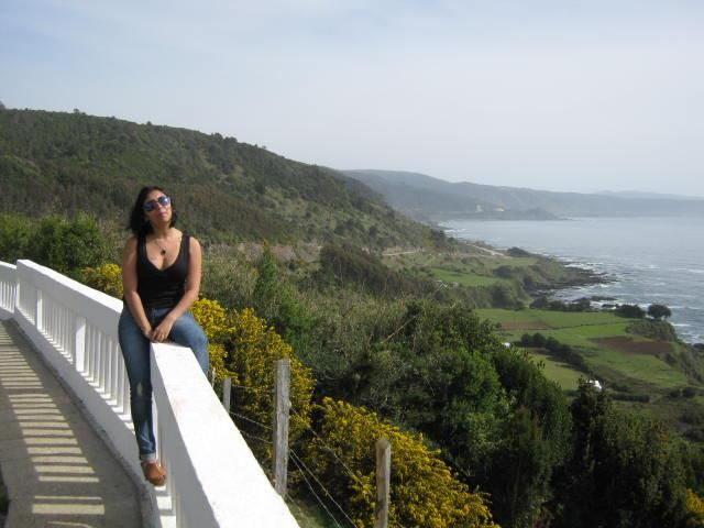 Vista del mirador mas alto en Corral. Valdivia