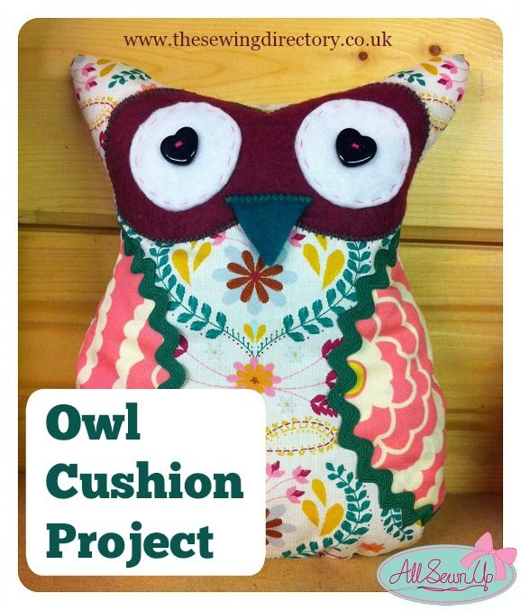 Owl cushion sewing project