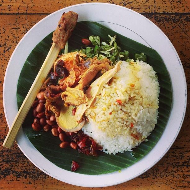 "Indonesian rice mix called, ""nasi campur kedewatan"""