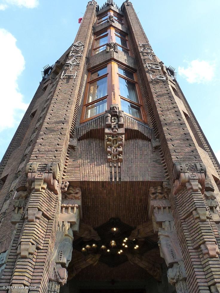 De 'boeg' van het Scheepvaarthuis. Foto Klaas Schoof.