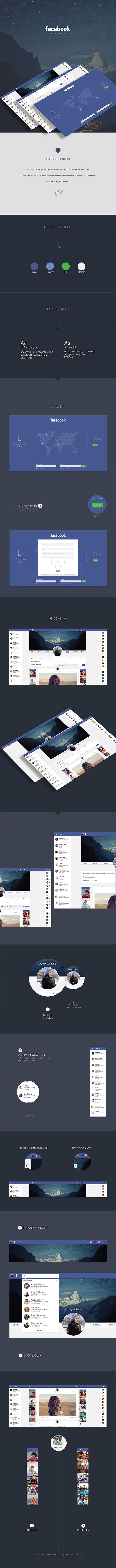 25 Interesting Redesign Concepts Of Famous Websites/Apps  Facebook Redesign