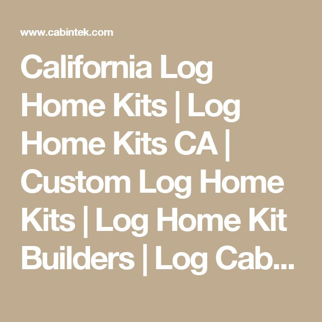 25 best log homes kits ideas on pinterest for Butt and pass log cabin kits