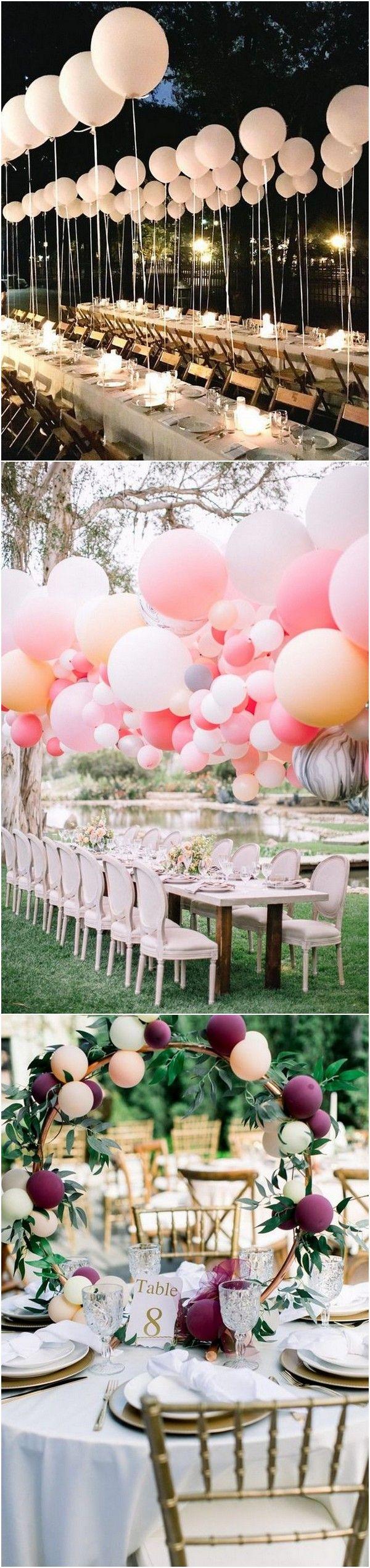 40 tolle Hochzeitsdekoration Ideen mit Luftballons - Seite 2 von 2