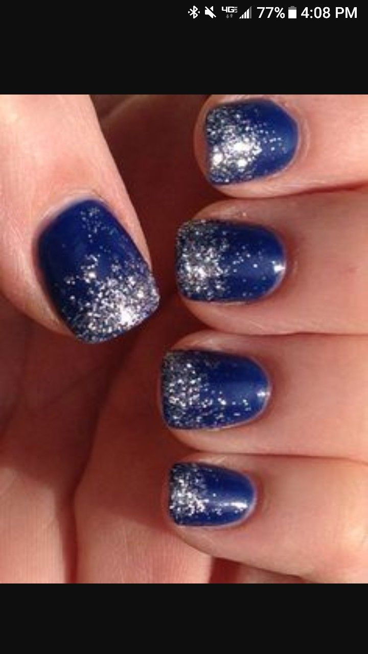52 best wedding nails images on pinterest gel nails beauty dallas cowboys nail design ombr glitter nails for any blue team or winter prinsesfo Image collections