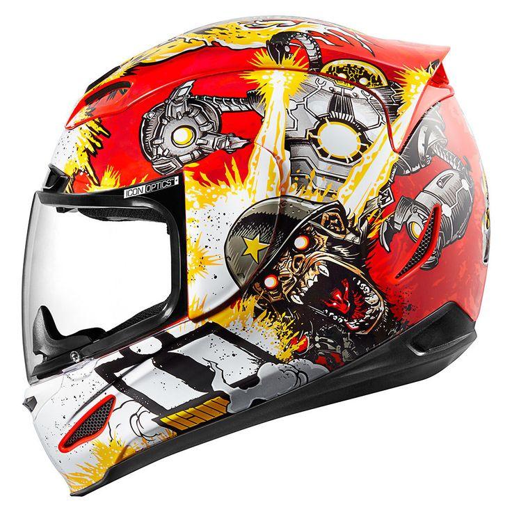 Monkey Business Red Helmets Icon Motosports Ride