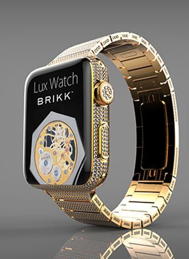 Behold, the only thing greater than the Apple Watch Edition, the $114,995 diamond-studded Lux Watch Omni, an 18-karat gold customized version of Apple's smart watch.