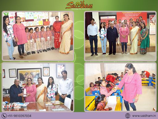 UPMA chief Mrs. Manju Mishra Visited #Saidham on 8th Nov 2017, UPMA has given lots of contribution to the foundation of Shirdi Sai Baba School in Bundelkhand, Nawada- Bihar.