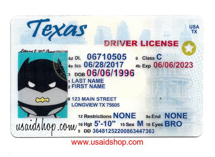 Texas Fake Ids Drivers License Driving License Card Design