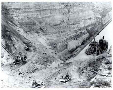 Building the Corinth Canal in Greece
