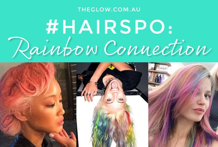 #Hairspo - very bright and definitely not boring, the best rainbow hair from the internet.