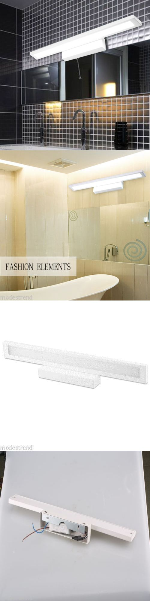 Lamps And Lighting: New 18W White Modern Bathroom Make Up Mirror Light Front Led Lighting Waterproof -> BUY IT NOW ONLY: $32.99 on eBay!