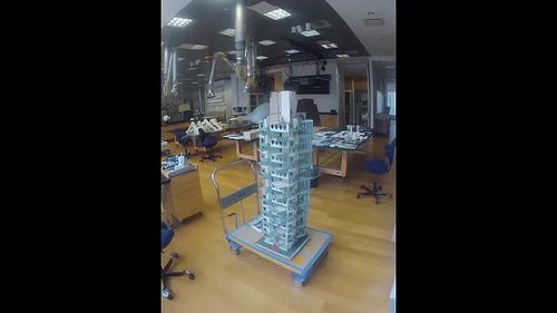 Conserving Frank Lloyd Wright's St. Marks Tower Model -
