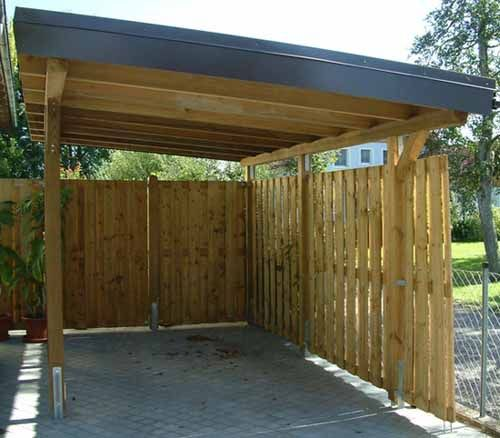 large wooden carport idea with roof