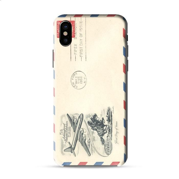 Vintage Airmail Envelope Iphone X 3D Case Caseperson