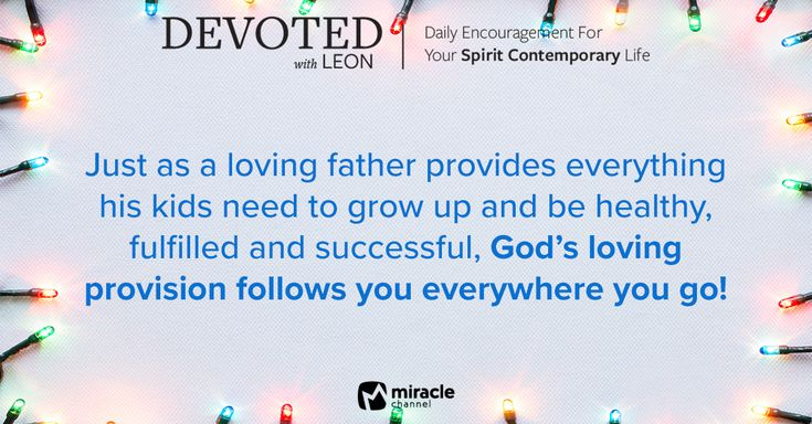 December 18 - Take A Look at What's Following You #MiracleChannel #Devoted #December