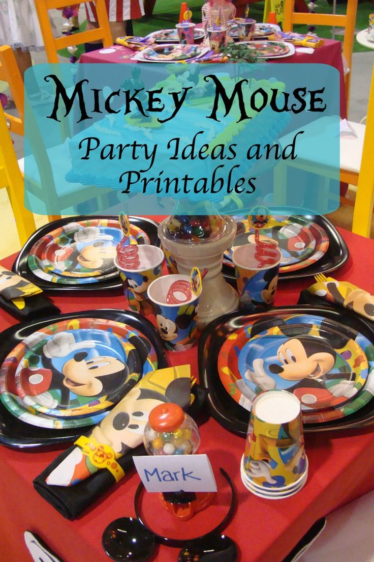 This is a one-stop page filled with fabulous Mickey Mouse and other Disney party ideas, including free, printable invitations and decorations.