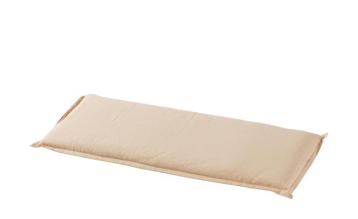 Zweisitzer-Bankauflage  Sandy - beige - garngefärbtes Uni, 60% Baumwolle, 40% Polyester - 46 cm - 6 cm - Höffner Jetzt bestellen unter: https://moebel.ladendirekt.de/garten/gartenmoebel/sitzauflagen/?uid=2c00040b-6d7a-5b13-823d-db0725d63bd7&utm_source=pinterest&utm_medium=pin&utm_campaign=boards #100 #sitzauflagen #ard #geb #eff. #baumwolle #garten #60% #gartenmoebel #jahreszins Bild Quelle: hoeffner.de