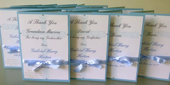 Modern Christening Thank you cards by LKsInvitations on Etsy, £2.99