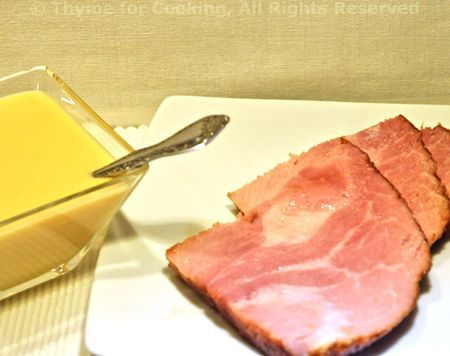 Sweet and tangy mustard sauce, perfect with ham on Easter Sunday!    Here's a variation I prefer:  http://www.cooks.com/rec/view/0,1815,150173-247197,00.html