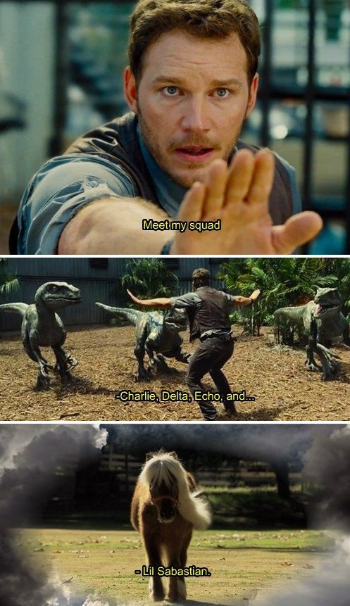 Jurassic World + Parks and Rec. I'm dying I'm dying I'm dying this is too funny