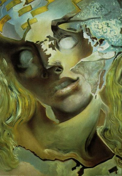 """there-was-a-monster-in-my-bed: """" Tête éclatée - Dali (1982) """""""