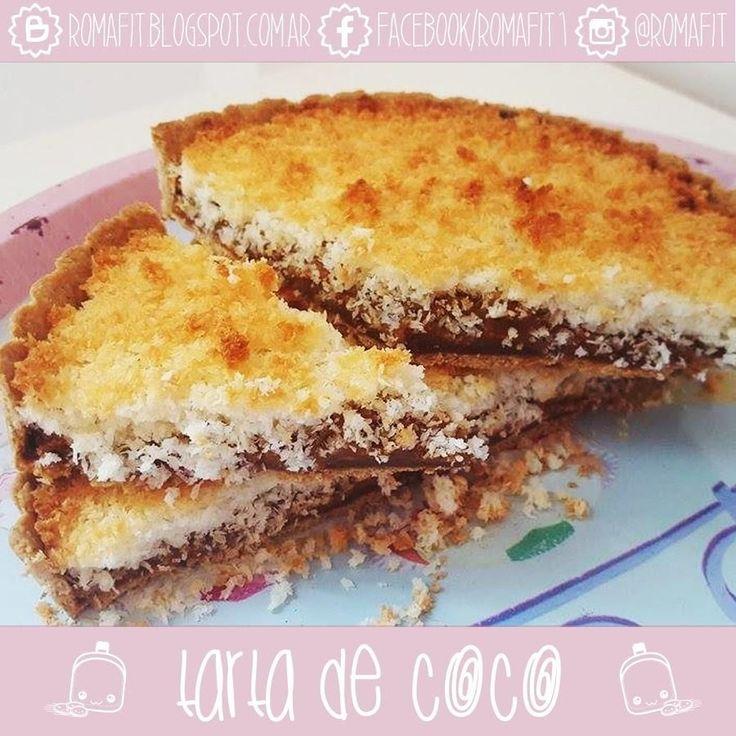 Esta tarta de coco la describe la autora del blog RECETAS FIT PARA GENTE COMÚN…