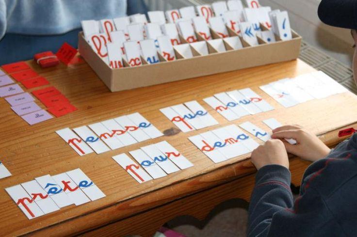 Le matériel Montessori comme dans une école Montessori