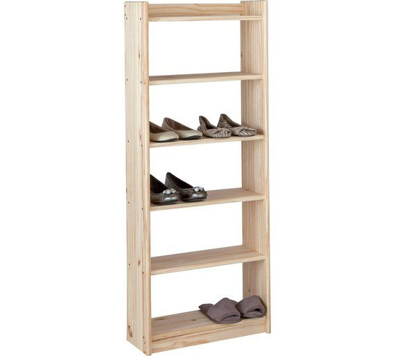 Buy HOME Unfinished 6 Shelf Storage Unit   Solid Unfinished Pine At  Argos.co.