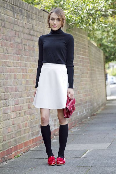 "Reiss Skirts, Gap Sweaters, Russell & Bromley Loafers | ""Little White Skirt: Preppy"" by LaPetiteAnglaise 