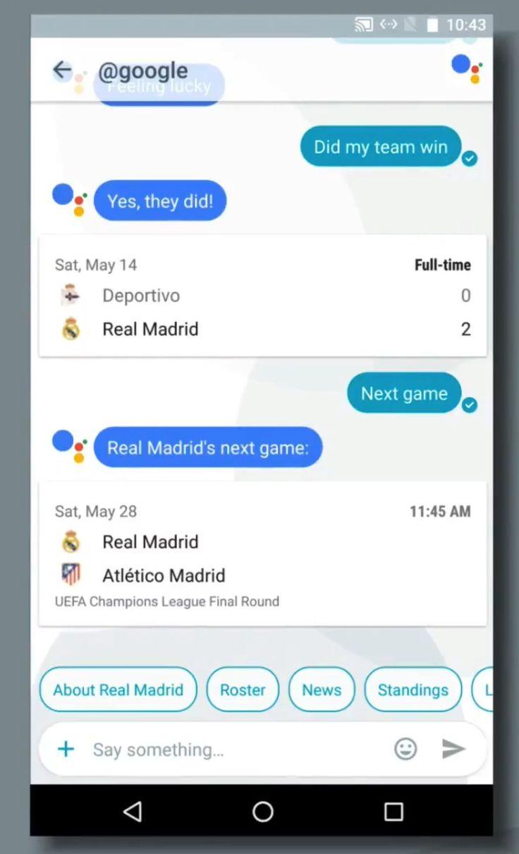 Google Allo mesageri chatbot
