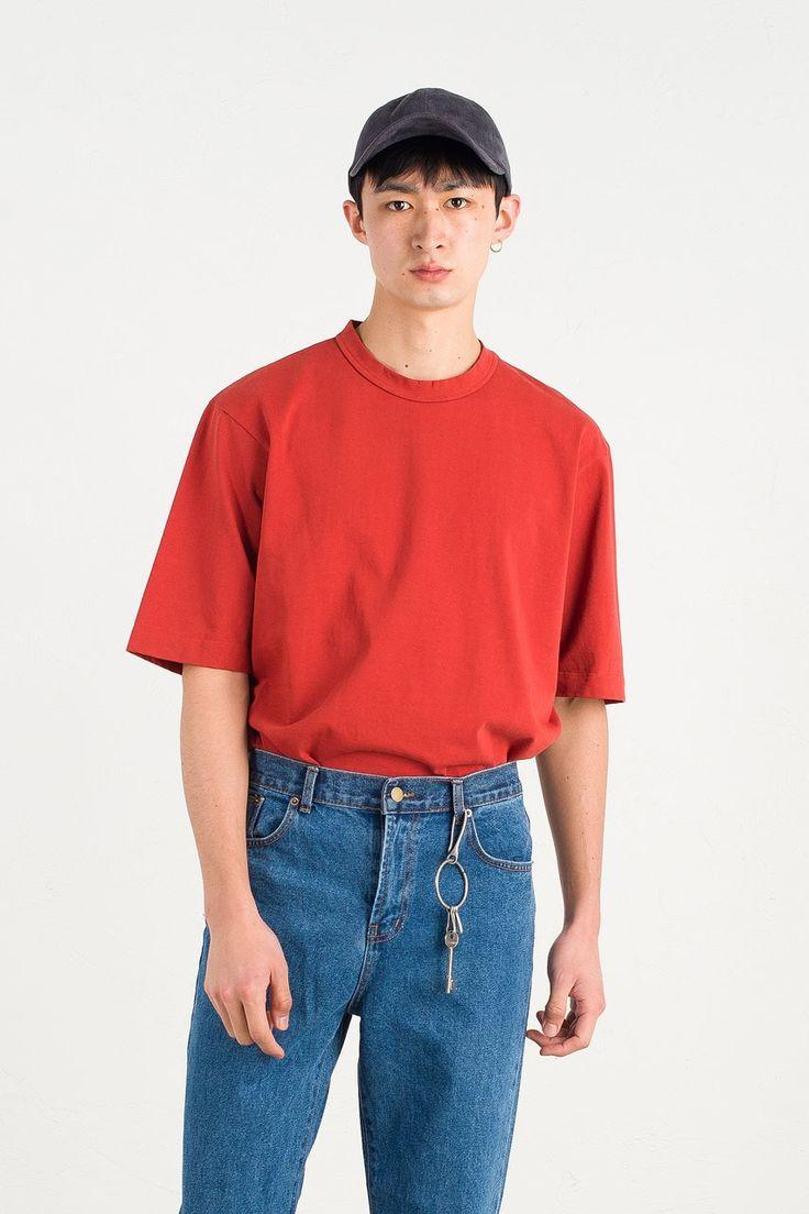 Menswear   Boxy Tee 18, Crimson