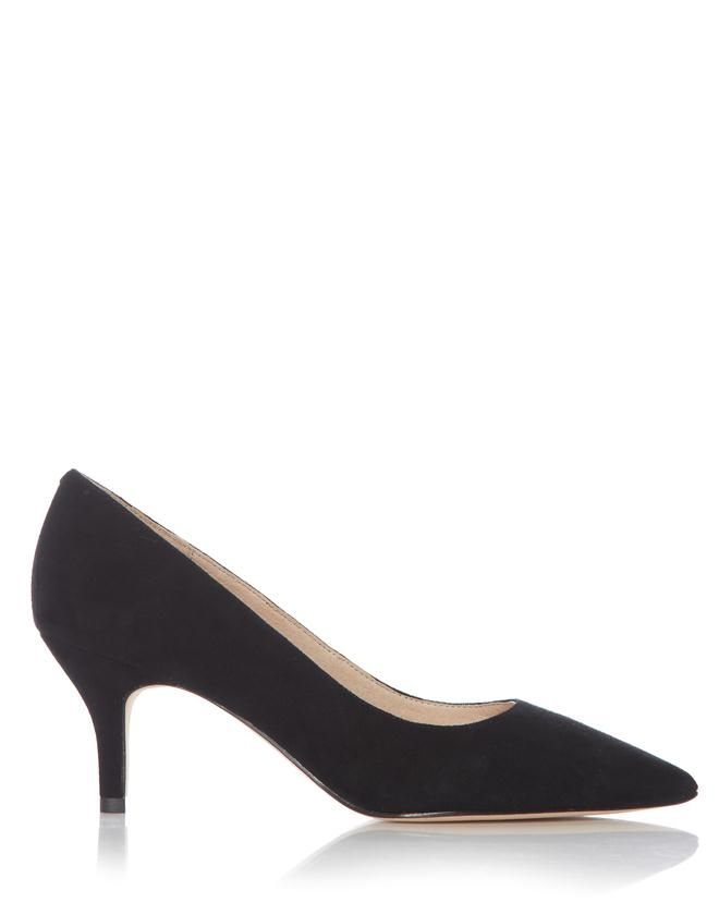 Black Suede Leather Court Shoe | Jigsaw | rated 5 stars