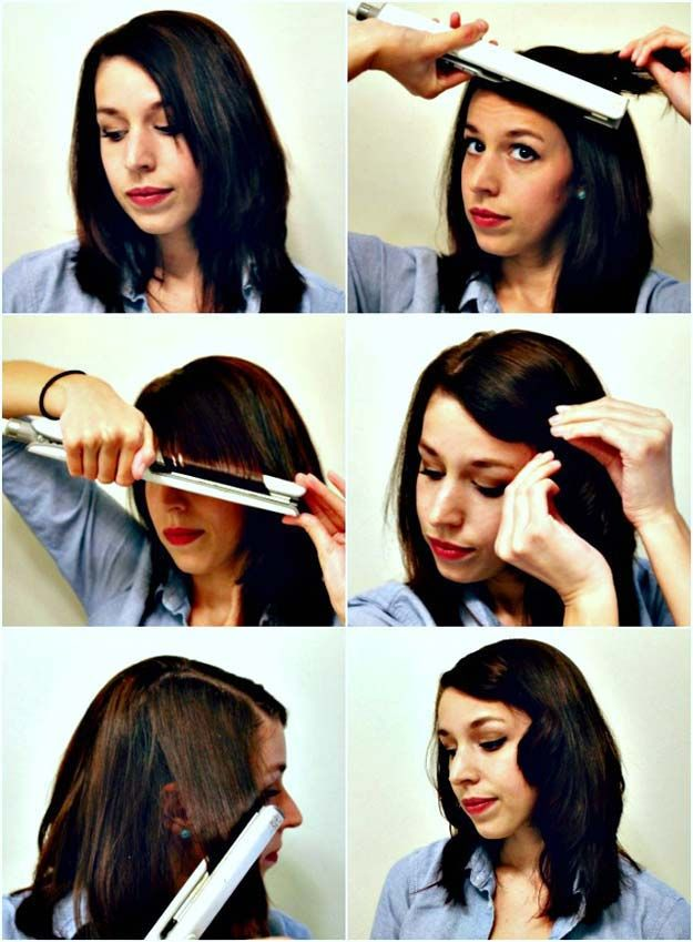 Cool Hairstyles You Can Do With Your Flat Iron - Hide Awkward Bangs with Vintage...