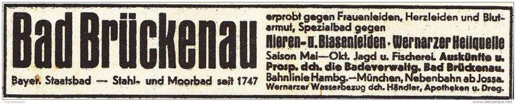 Original-Werbung/ Anzeige 1936 - BAD BRÜCKENAU - ca. 130 x 25 mm