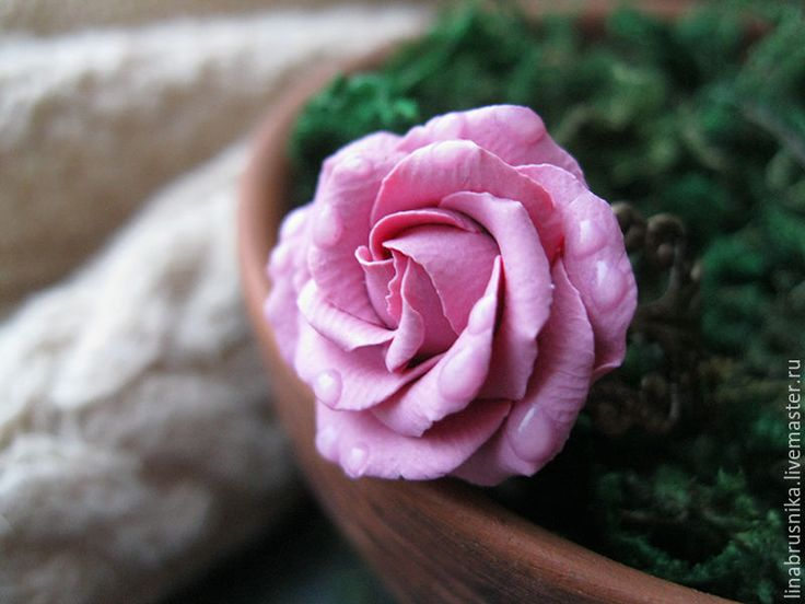 "Купить кольцо ""Клара"" - розовый, розовое кольцо, кольцо с розой, роза, цветы, кольцо-цветок"