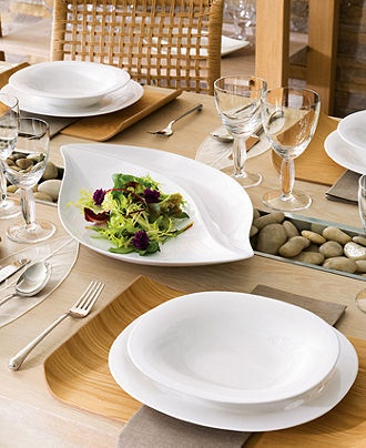 Villeroy and Boch, New Cottage dinnerware. I love the round, oval, and leaf shapes. sleek and modern but still earthy and fun.