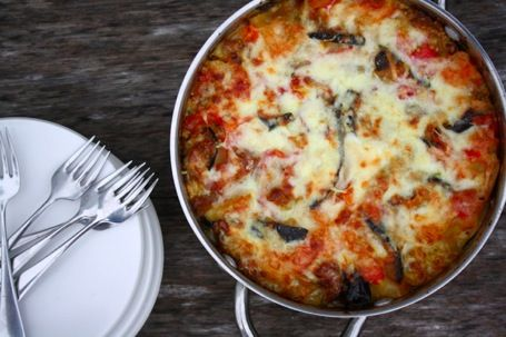 Make a meatless version of the classic lasagna dish using eggplant and Fontina cheese.