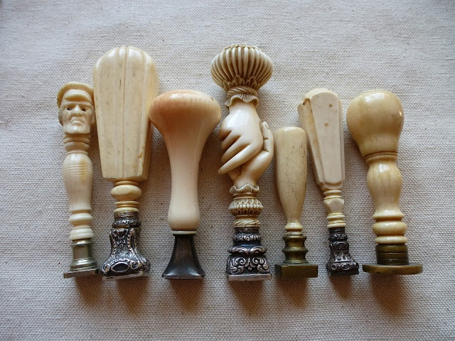 Wax seals in Ivory Bone {Personal Collection} via Carolyn Williams