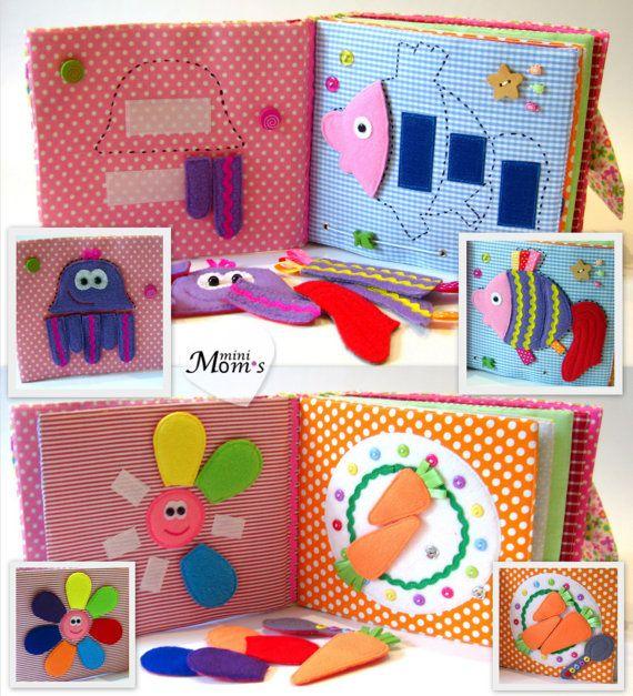 Children's Quiet Book Busy Book Eco friendly от MiniMoms на Etsy