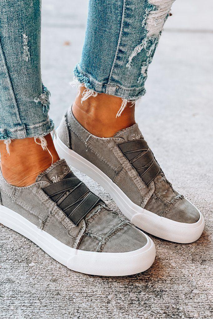 BLOWFISH Marley Slip on Sneaker (Steel