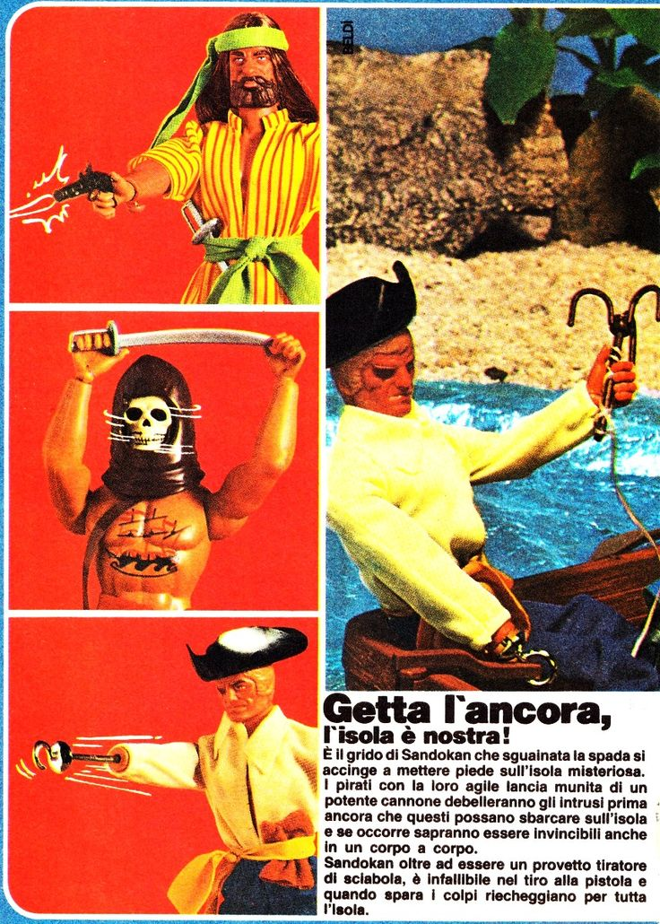 BIG JIM PIRATI CAPTAIN HOOK CAPITAN DRAKE CAPITAN FLINT MATTEL VINTAGE TOYS GIOCATTOLI ANNI '80 ADVERTISING PUBBLICITÀ