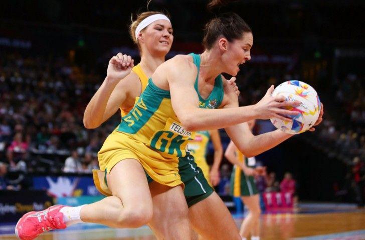 netball world cup australia vs south africa. sharni layton